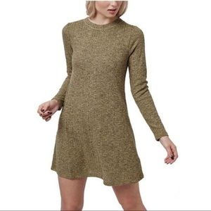 (NWOT) TOPSHOP Marled Knit Long Sleeve Dress